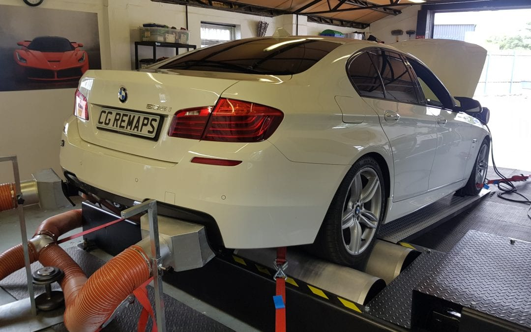 BMW 535i IS NOW DYNO TUNED WITH POP & BANG PLUS GEARBOX TUNING - CG
